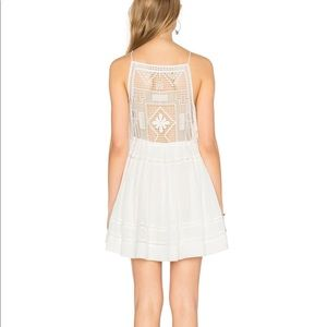 Free People Emily White Lace Mini Dress - S